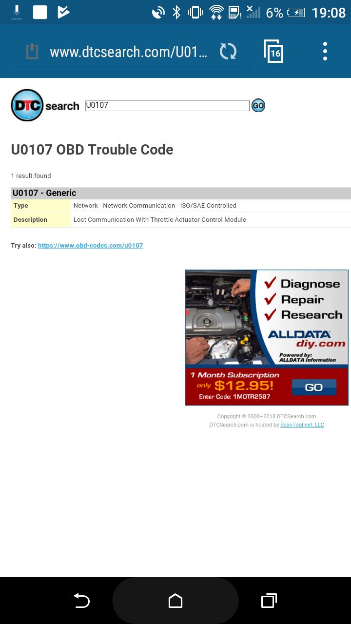 Грешки P2122, P2127 и U0107 + авариен режим - Accord 7ма ген  (2003